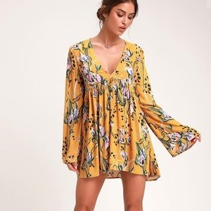 Free People Bella Woven Floral Printed Tunic